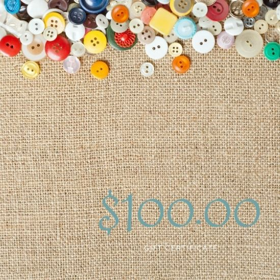 $100.00 Gift Certificate to be redeemed at Fabric Sauce