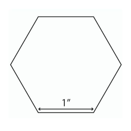 Hexagon Template Paper 1""