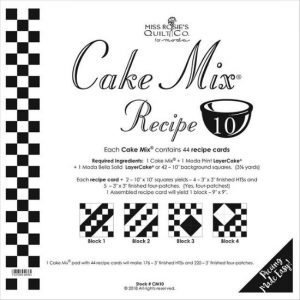 Moda Cake Mix Recipe 10 by Miss Rosie's Quilt Co