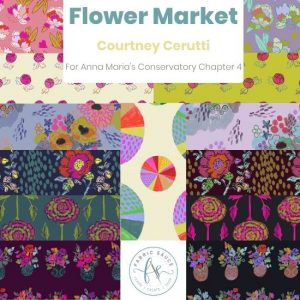 Flower Market Courtney Cerutti Conservatory 4 Fat Quarter Bundle