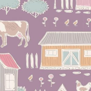 Tilda Tiny Farm Mauve 110022