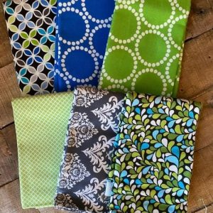 Fat Quarter Bundle Green/Blue 1