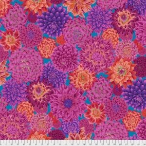 Kaffe Fassett Aug 2020 Collective Dancing Dahlias PWPJ101-Red