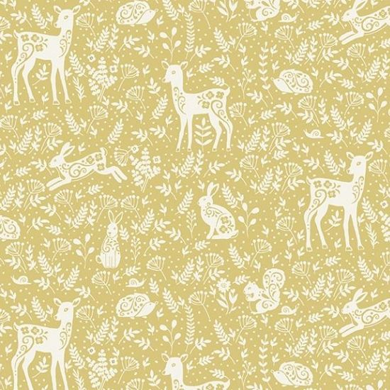 Clara's Garden Animals Yellow M2264Y by MakowerUk