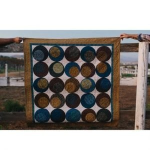 Rolling Romance Quilt Kit using Pottery Fabrics