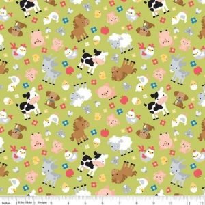 Down on the Farm Fabric by Riley Blake Designs C100071-Green