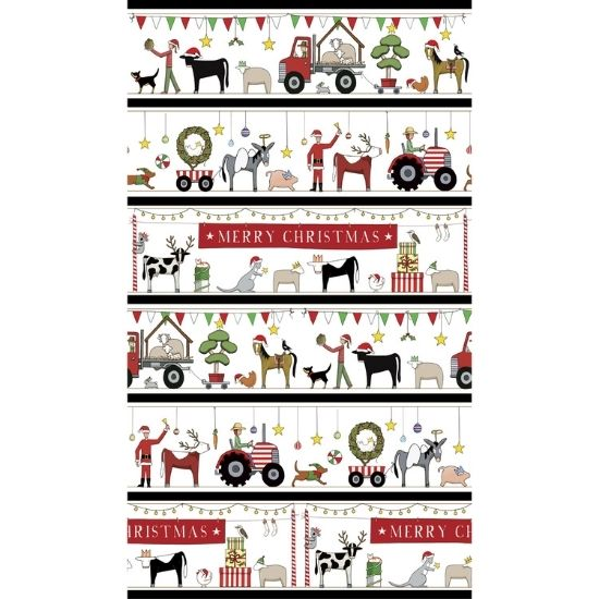 Christmas In Australia Cotton Fabric by Rachael Flynn of Red Tractor Designs DV3932