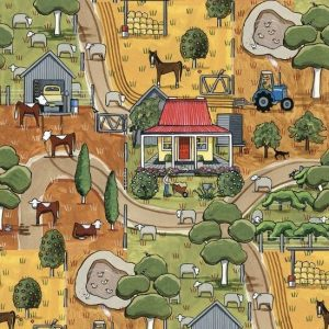 Devonstone Anywhere in Paradise Fabric by Rachel Flynn Red Tractor Designs DV3981