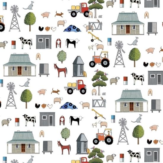 Devonstone Anywhere in Paradise Fabric by Rachel Flynn Red Tractor Designs DV3985