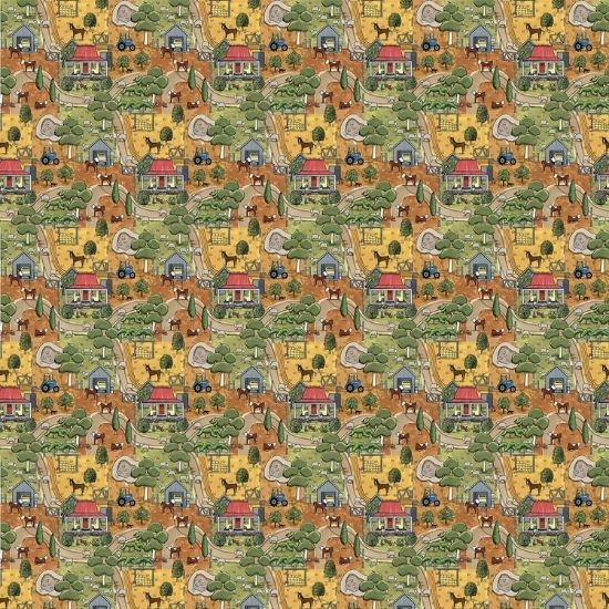 Anywhere in Paradise Wideback Fabric by Rachael Flynn Red Tractor Desgins DV3992